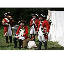 reenactors portraying british soldiers Photographic Print