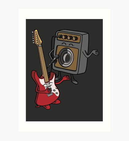 I wanna rock! Art Print
