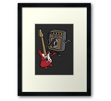 I wanna rock! Framed Print