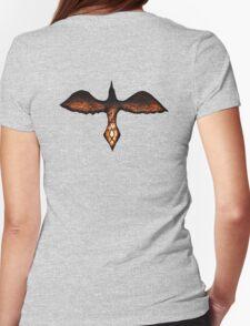 Odin's Raven Huginn Womens Fitted T-Shirt