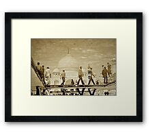 Boys of Taj Framed Print