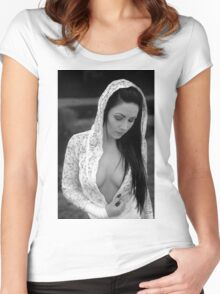 Nude Girl - NudeART Women's Fitted Scoop T-Shirt