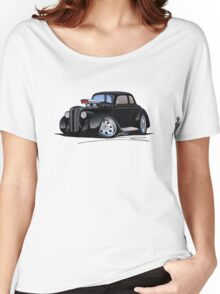1936 Plymouth Coupe (B) Black Women's Relaxed Fit T-Shirt