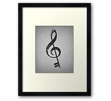 The G key. Framed Print