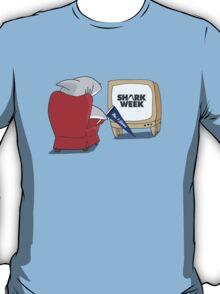 What shark's watch on Shark Week T-Shirt