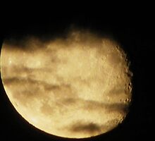 Cloud Covered Moon by johntbell