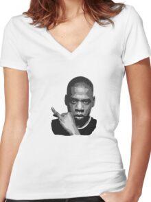 Jay Z Women's Fitted V-Neck T-Shirt