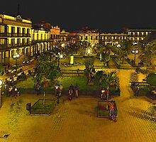 Plaza de La Libertad-Tampico, MX, Digital Interpretation by Paul Wolf