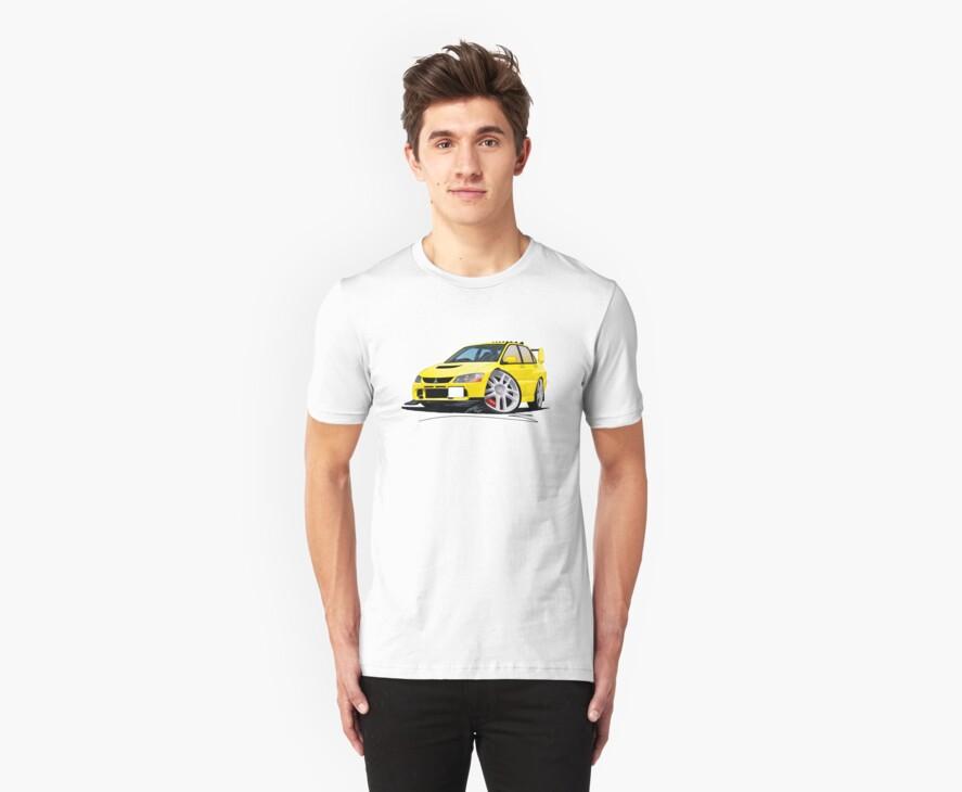 Mitsubishi Evo IX Yellow by Richard Yeomans