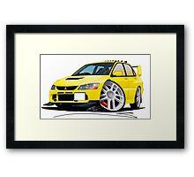 Mitsubishi Evo IX Yellow Framed Print