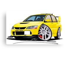 Mitsubishi Evo IX Yellow Canvas Print