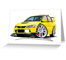 Mitsubishi Evo IX Yellow Greeting Card
