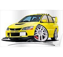 Mitsubishi Evo IX Yellow Poster