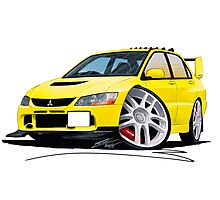 Mitsubishi Evo IX Yellow Photographic Print