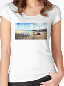 St Ives, Cornwall Women's Fitted Scoop T-Shirt