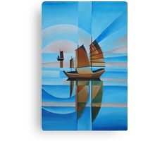 Soft Skies, Cerulean Seas and Cubist Junks Canvas Print