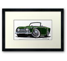 Triumph TR5 Dark Green Framed Print