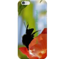 Bee in the Trumpet Flower [iPhone - iPod Case] iPhone Case/Skin