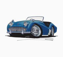 Triumph TR3A Blue Kids Tee