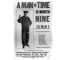 A man in time is worth nine 002 Poster