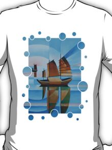 Soft Skies, Cerulean Seas and Cubist Junks T-Shirt