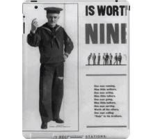 A man in time is worth nine 002 iPad Case/Skin