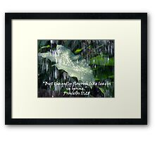 """Proverbs 11:28""  by Carter L. Shepard Framed Print"