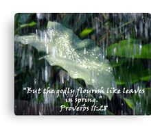"""Proverbs 11:28""  by Carter L. Shepard Canvas Print"