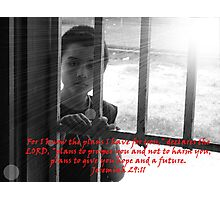 """Jeremiah 29:11""  by Carter L. Shepard Photographic Print"