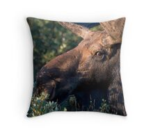 Moose portrait Throw Pillow