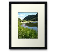 Perfect Day At The River Framed Print