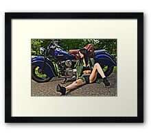 Dead Tired Framed Print
