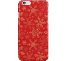Christmas pattern with snowflakes iPhone Case/Skin
