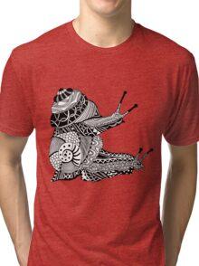 Snails Boho Illustration Tri-blend T-Shirt