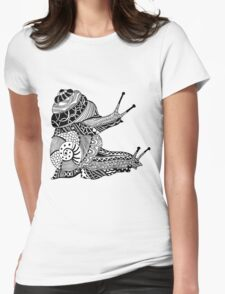 Snails Boho Illustration Womens Fitted T-Shirt