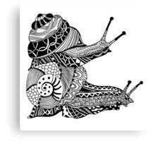 Snails Boho Illustration Canvas Print