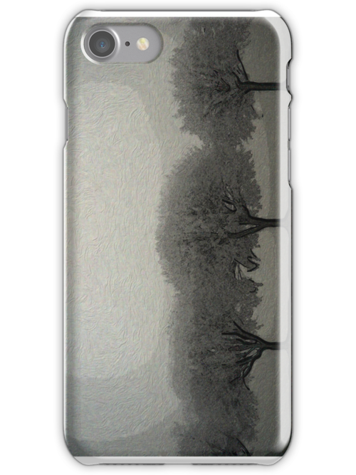 Trees in a line - iphone by Gal Lo Leggio