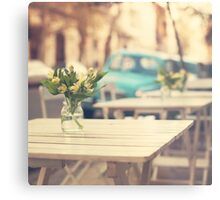 I'm gonna miss you a lot (Retro Pastel Coffee Shop in the Streets) Metal Print