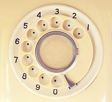 Yellow Retro Telephone  by Andreka