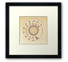 Yellow Retro Telephone  Framed Print