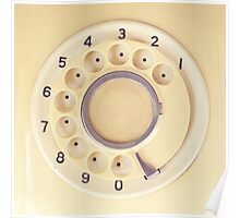 Yellow Retro Telephone  Poster
