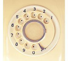 Yellow Retro Telephone  Photographic Print