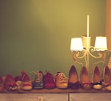 Dancing Shoes and Heels (retro and vintage girly shoes and heels with a lovely lamp) by Andreka
