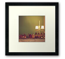 Dancing Shoes and Heels (retro and vintage girly shoes and heels with a lovely lamp) Framed Print