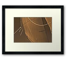 Sepia Sails And Ropes Framed Print