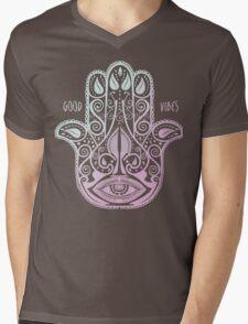 HAMSA PALM Mens V-Neck T-Shirt