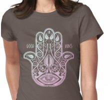 HAMSA PALM Womens Fitted T-Shirt