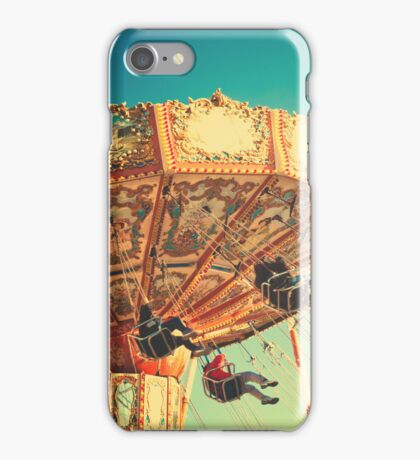 Vintage Chain Swing Ride on Blues Sky iPhone Case/Skin