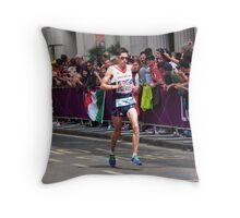L Merrien(Team GB) Throw Pillow