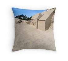 Sand & Houses Throw Pillow
